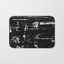 Distressed Grunge 102 in B&W Bath Mat