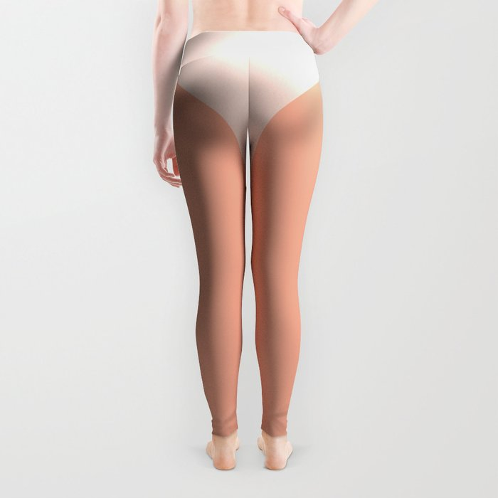 The Sweet Life Collection - Peach Coral Sun Gradient Leggings