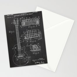 Guitar Patent Stationery Cards