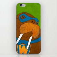 walrus iPhone & iPod Skins featuring Walrus by subpatch