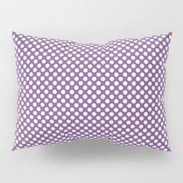 Royal Lilac and White Polka Dots Pillow Sham