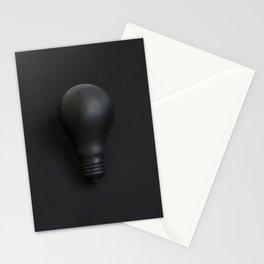 Black Lightbulb Stationery Cards