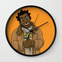 oitnb Wall Clocks featuring Crazy Eyes OITNB by StephDere