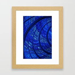 Balloon Flower Fractal Framed Art Print