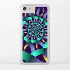 The turquoise spiral Clear iPhone Case