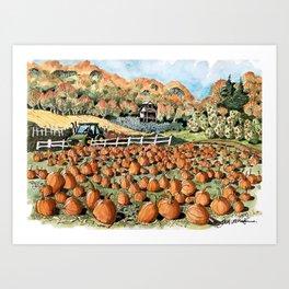 Midwest Farm in Fall Art Print