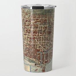 Map Of Chicago 1938 Travel Mug