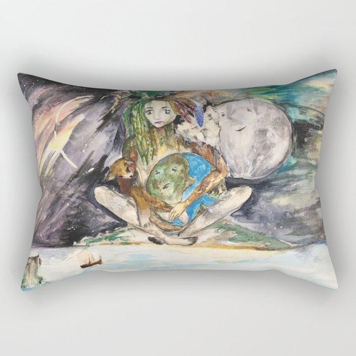 Mye's Earth Rectangular Pillow