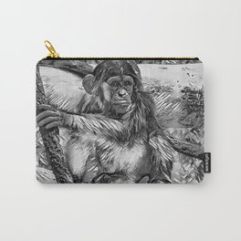 AnimalArtBW_Chimpanzee_20170905_by_JAMColorsSpecial Carry-All Pouch