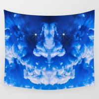 demon Wall Tapestries featuring Thunderstorm Demon by digital2real