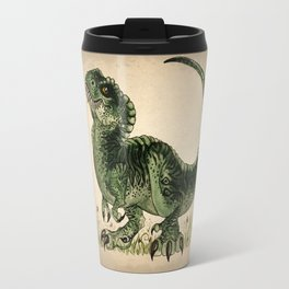 """""""Baby T-Rex"""" by Amber Marine ~ watercolor and ink, (Copyright 2013) Travel Mug"""