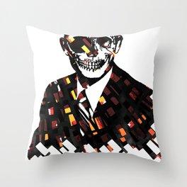 Just Business Throw Pillow