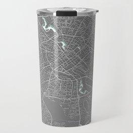 Minsk, Belarus, Grey, City, Map Travel Mug