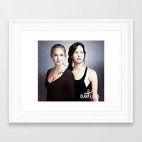 divergent Framed Art Prints featuring The Divergent Games by Clara J Aira