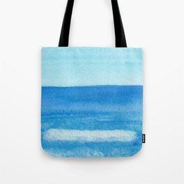 Cobalt Sea Wave Tote Bag