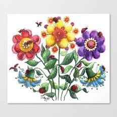 Ladybug Playground Canvas Print