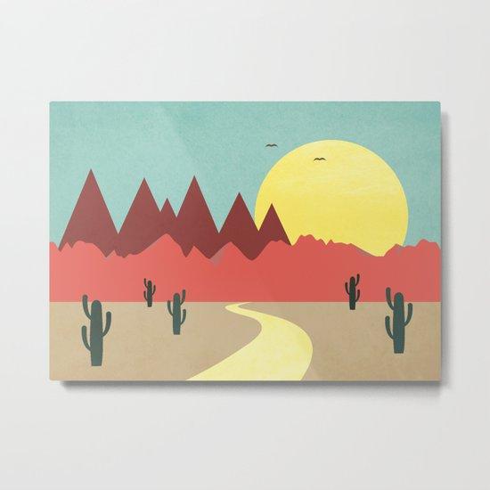 Desert and mountains Metal Print