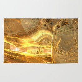 Open Furnace in Space Rug