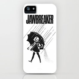 Jawbreaker Girl with umbrella iPhone Case
