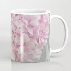 Delicate, pastel pink hydrangea flower Mug