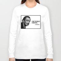 salvador dali Long Sleeve T-shirts featuring Salvador Dali by Pancho the Macho