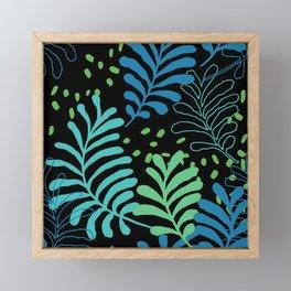 TROPICAL LEAF VIBE Framed Mini Art Print