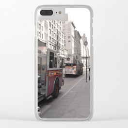 NYC fdny Clear iPhone Case