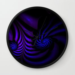 Spiral abstract fractal Wall Clock
