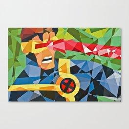 Geometric Superhero Canvas Print