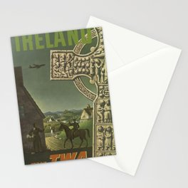 Ireland Vintage Travel Poster Midcentury Colorful Art Deco Stationery Cards