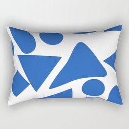 Blue shapes on white background 2 Rectangular Pillow
