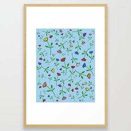 Colorful Flower Toss Framed Art Print