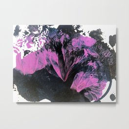 Thunderstorm [2]: a vibrant, abstract acrylic piece in purple, blue, magenta, and white Metal Print