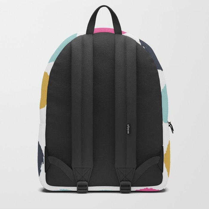 Polka dots abstract minimalist bright happy positive art painting painterly dots Backpack