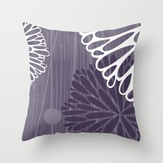 Abstract Floral in Purple by Friztin Throw Pillow
