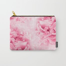 Light Red Peonies Dream #1 #floral #decor #art #society6 Carry-All Pouch