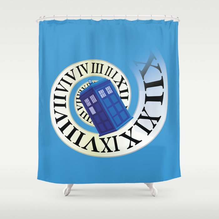 TARDIS in Time Shower Curtain