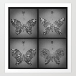 Faces Butterfly Art Print