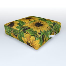 Vintage & Shabby Chic - Vincent's favorite flowers Outdoor Floor Cushion