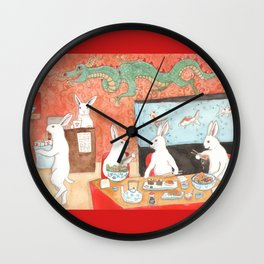 Sushi and Noodles Wall Clock