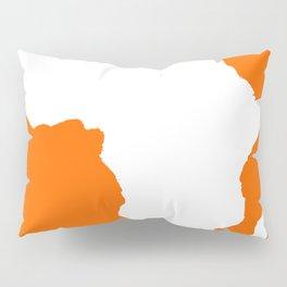 Tangerine Audacious Africa Pillow Sham
