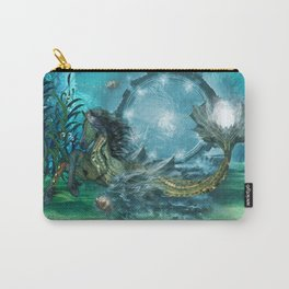 Awesome steampunk seahorse Carry-All Pouch