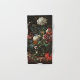 Jan Davidsz de Heem - Vase of Flowers (c.1660) Hand & Bath Towel