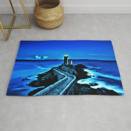 Plouzane Lighthouse, France Landscape by Jeanpaul Ferro Rug