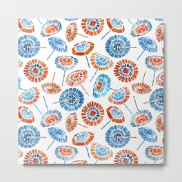 Japanese Sun Umbrella Pattern Metal Print