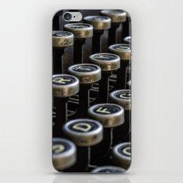 Dusty typewriter iPhone Skin