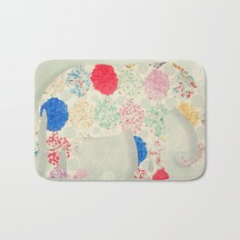 The Elephant in the Room -- Whimsical Nursery Art and Decor Bath Mat