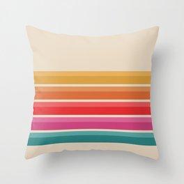 Retro - Horizon #724 Throw Pillow