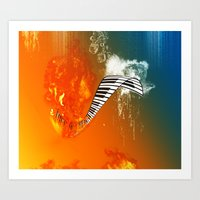 piano Art Prints featuring Piano by nicky2342