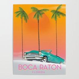 Boca Raton Florida travel poster Poster